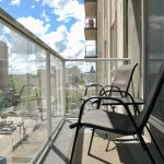 1-Bedroom Furnished Suite: Private balcony